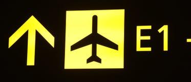 Segno dell'aeroplano Immagini Stock