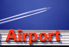 Segno dell'aeroporto Immagini Stock Libere da Diritti