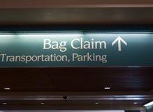 Segno dell'aeroporto Immagini Stock