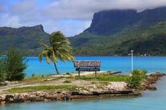 Segno dell'aeroporto di Bora Bora Fotografia Stock Libera da Diritti