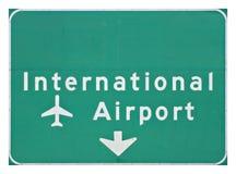 Segno dell'aeroporto internazionale Fotografia Stock Libera da Diritti