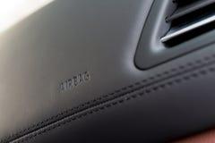 Segno dell'airbag Immagini Stock