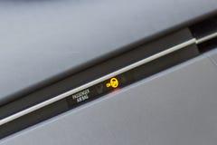 Segno dell'airbag del passeggero Immagini Stock