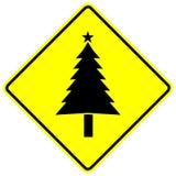 Segno dell'albero di Natale Fotografie Stock