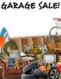 Segno dell'aletta di filatoio di vendita di garage Immagini Stock Libere da Diritti