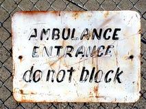 Segno dell'ambulanza Immagine Stock Libera da Diritti