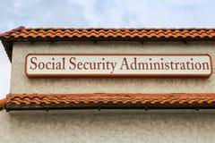 Segno dell'amministrazione di sicurezza sociale Fotografia Stock Libera da Diritti