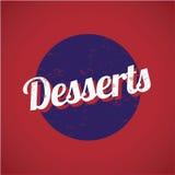 Segno dell'annata dei dessert illustrazione vettoriale