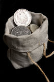 Segno dell'argento cinque della Reich tedesca Fotografia Stock Libera da Diritti