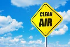 Segno dell'aria pulita immagini stock libere da diritti