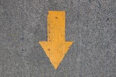 Segno dell'asfalto Fotografie Stock
