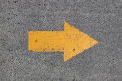 Segno dell'asfalto Fotografia Stock