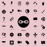 segno dell'attaccatura nell'icona rotonda Insieme dettagliato delle icone minimalistic Progettazione grafica premio Una delle ico illustrazione vettoriale