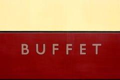 Segno dell'automobile di buffet Fotografia Stock Libera da Diritti
