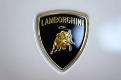 Segno dell'automobile di Lamborghini fotografie stock