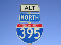 Segno dell'autostrada interstatale Fotografia Stock Libera da Diritti