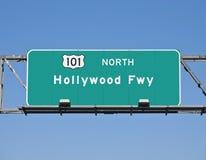 Segno dell'autostrada senza pedaggio di Hollywood Fotografia Stock