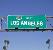 Segno dell'autostrada senza pedaggio di 101 Los Angeles Fotografia Stock