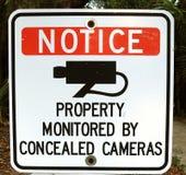 Segno dell'avviso delle macchine fotografiche nessun animali domestici nessun bici Fotografia Stock Libera da Diritti