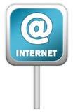 Segno dell'azzurro del Internet Immagine Stock Libera da Diritti