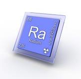 Segno dell'elemento chimico del radio Fotografia Stock