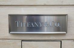 Segno dell'en Co di Tiffany immagini stock