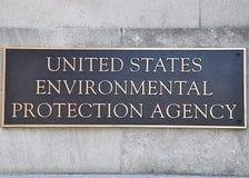 Segno dell'ente per la salvaguardia dell'ambiente Fotografia Stock
