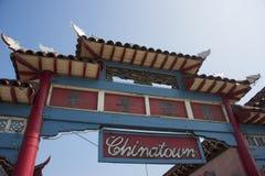 Segno dell'entrata di Chinatown Immagine Stock