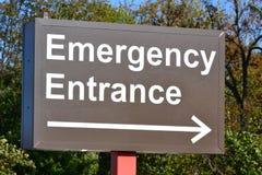 Segno dell'entrata di emergenza Immagini Stock