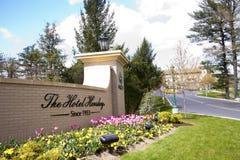 Segno dell'entrata di Hershey dell'hotel Immagine Stock