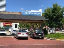 Segno dell'entrata per il marlin azzurro in Colombia, Sc immagine stock