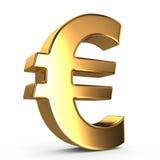 Segno dell'euro Fotografia Stock Libera da Diritti