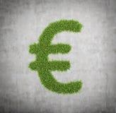 Segno dell'euro dell'erba Fotografia Stock Libera da Diritti