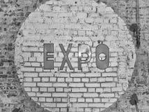 Segno dell'EXPO Fotografie Stock Libere da Diritti