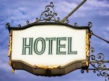 Segno dell'hotel Immagine Stock