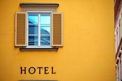 Segno dell'hotel Fotografie Stock