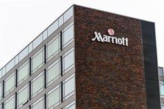 Segno dell'hotel di Marriott Immagini Stock