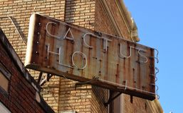 Segno dell'hotel San Antonio, il Texas Fotografie Stock