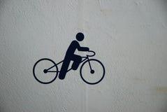 Segno dell'icona del cavaliere della bici e della bicicletta Fotografie Stock