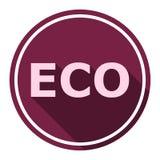 Segno dell'icona di Eco con ombra lunga Immagine Stock