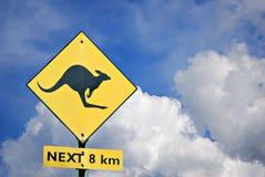Segno dell'incrocio del canguro Immagini Stock Libere da Diritti