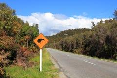 Segno dell'incrocio del Kiwi Immagini Stock