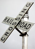 Segno dell'incrocio di ferrovia Fotografie Stock Libere da Diritti