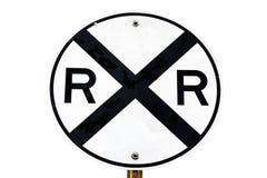 Segno dell'incrocio di ferrovia immagine stock libera da diritti