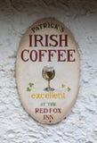 Segno dell'irish coffee fotografie stock libere da diritti