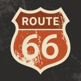 Segno dell'itinerario 66 Fotografia Stock