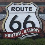 Segno dell'itinerario 66 Fotografie Stock Libere da Diritti