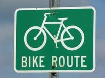 Segno dell'itinerario della bici fotografia stock libera da diritti