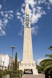 Segno dell'obelisco per il casinò dell'hotel di Luxor a Las Vegas Immagine Stock Libera da Diritti