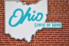Segno dell'Ohio sui mattoni illustrazione di stock